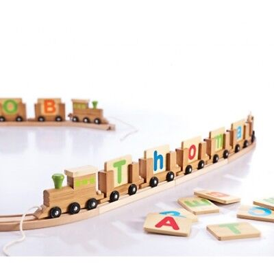 EverEarth Bamboo Personalised Name Train - $5.90 Kids Wooden Decor New Baby Gift