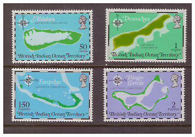 British Indian Ocean Territory MNH 1975 Maps set mint stamps