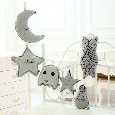 Glowing Cushion Soft Baby Comforter Toy Nursery Decor Moon Star Lamp Bulb Toy