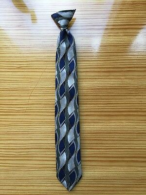 Boys Geometric Pattern Clip On Neck Tie-FREE SHIPPING