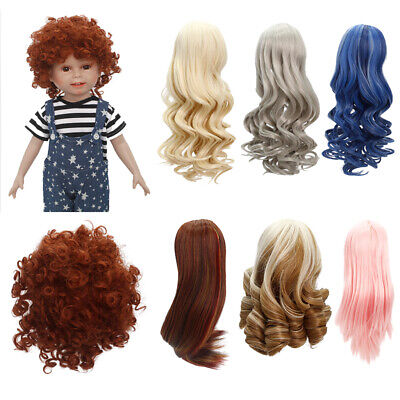 6~40cm Straight/Curly/Wavy Hair Wig Hairstyle for 18'' American Doll Costom Use