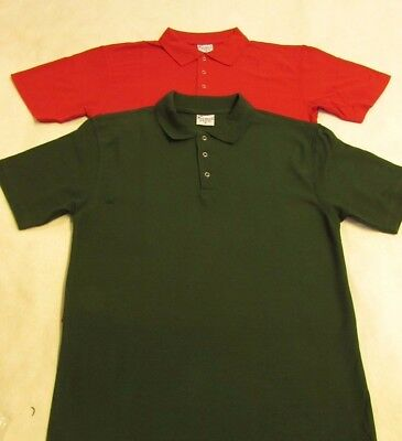 Mens Ladies Deluxe Polo Shirt Short Sleeve Work Strong Tough Casual Top S to 3XL