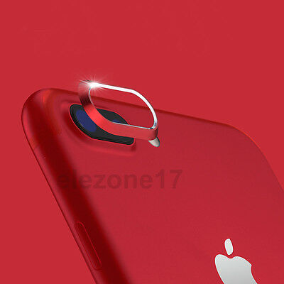For iPhone 8/7/8Plus Red Rear Back Camera Protector Protective Lens Case Cover