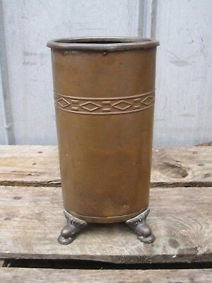 Vintage English Copper Fireplace Hearth Butler B7478