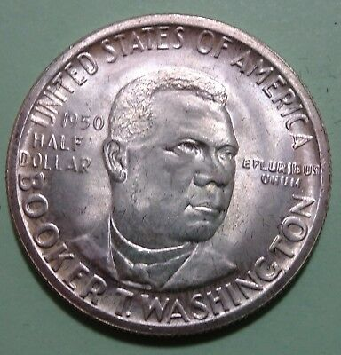 rare 1950-D US Booker T Washington Half Dollar SILVER COIN UNC only 6004 minted