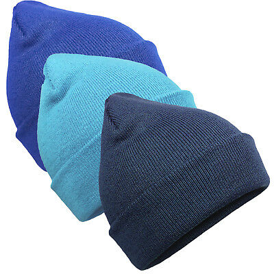 EUROTSHIRTS SLOUCH BEANIE COMBO PACK 3 FOR 2 OFFER 3 WARM BEANY HATS CAPS