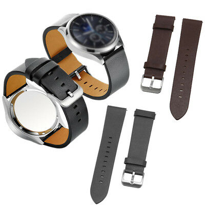22mm Cowhide Genuine Leather Watch ReplacemenT-strap Wrist Band Watch Band for S