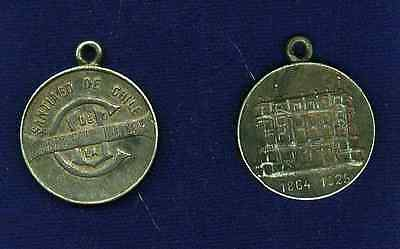 "CHILE  1925  SANTIAGO SILVER TOKEN / MEDAL  ""Club de la Union"""