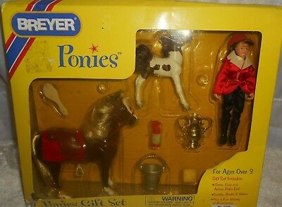 Breyer Ponies Gift Set #7019- Never Removed- Damaged Box