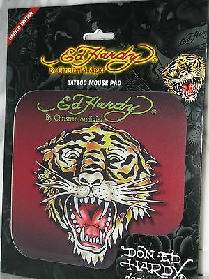 Ed Hardy Limited Edition Mouse Pad, Tattoo Tiger NEW