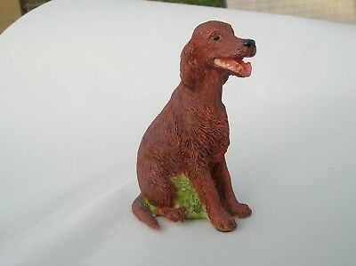 Charmstone hand painted- Dog- Irish Setter-marble-figurine
