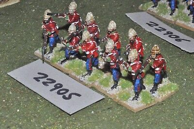25mm 19th century / british - zulu war (plastic) 10 figures - inf (22905)