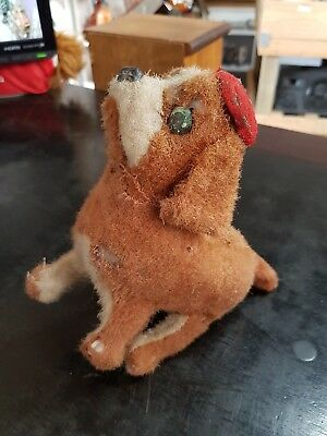 1940S Wind Up Jumping Vintage Dog Toy