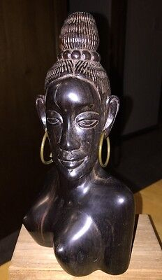 Vintage Bust Of African Woman Ebony