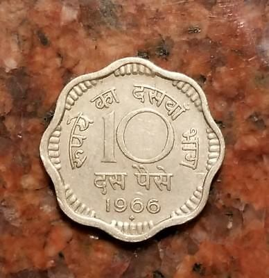 1966 India 10 Paise Coin - #1484