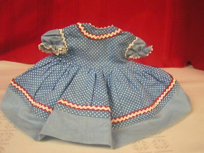 Vintage Madame Alexander 1950's Looby Loo Cloth Doll Dress Tagged Rare Free Ship