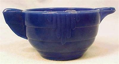 Akro Agate Royal Blue Stacked Disc & Interior Panel Creamer Vintage Depression