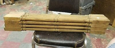"""16  Antique  30"""" Turned Oak Wood Stair Staircase Porch  Spindles Price Reduction"""