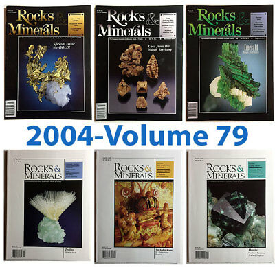 Rocks and Minerals 2004 Volume 79  (Number ONE thru SIX) - Pristine