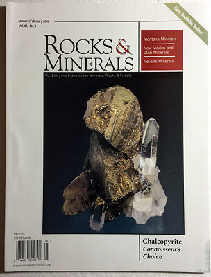 Rocks and Minerals 2008 Volume 83  (Number ONE thru SIX) - Pristine