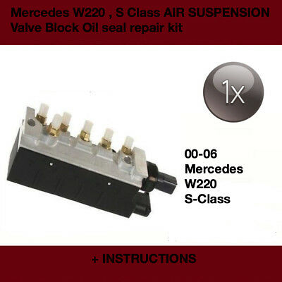Mercedes W220 S Class, Air Suspension valve o'ring repair kit / AIRMATIC