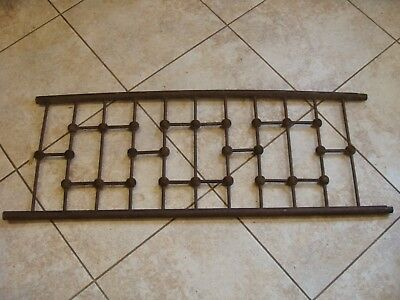 Antique Victorian Stick and Ball Architectural Oak Wood Panel Salvage Vintage
