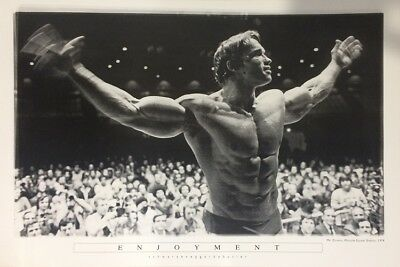 ARNOLD SCHWARZENEGGER ENJOYMENT POSTER (61x91cm) MR OLYMPIA 1974 PICTURE PRINT