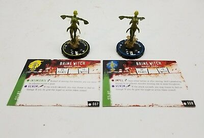 Horrorclix Brine Witch #007, #008 with cards