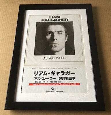 2017 Liam Gallagher As You Were JAPAN album press / print ad oasis FRAMED 12r