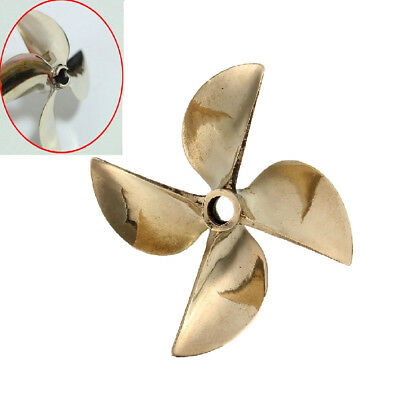 6717 4 Blade LH Copper Prop Propeller Dia 61mm P1.7 For 1/4'' Shaft RC Boat Part