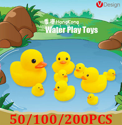 100X200X Rubber Ducks Baby Kid Children Water Bathing Fun Toys Squeaky Eager Lot