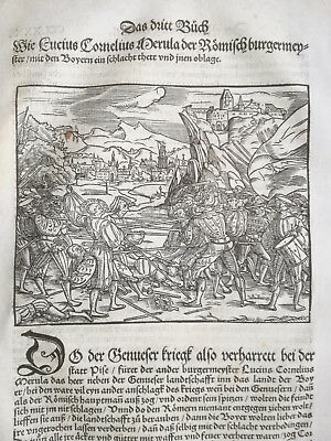 Livius History of Rome Post Incunable Woodcut Schoeffer (280) - 1530