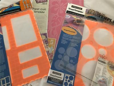 Scrapbook Or Card Making Templates Sets x 3 Packs + 1 Sheet