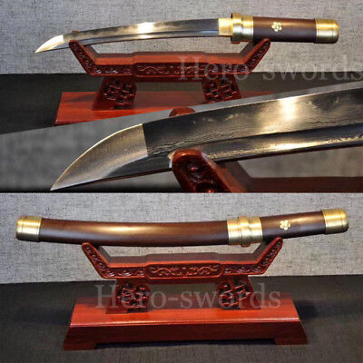 Clay Tempered Folded Steel Tang Samurai SWORD VERY SHARP Curve Chinese Sword