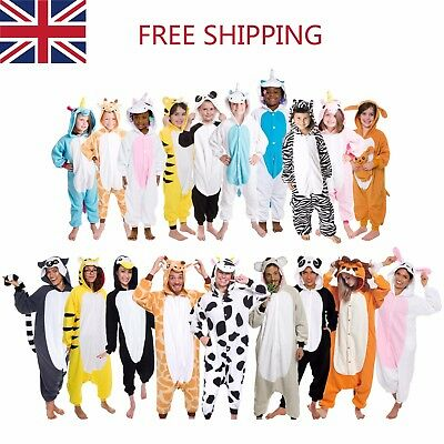 Unisex Adult Kids  Animal Onsie9Kigurumi PyjamasFancy Dress Onesie19Sleepwear UK