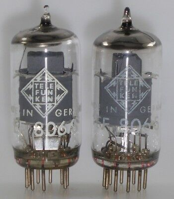 "2x EF806S Telefunken <> matched pair Röhren Tubes NOS NIB NEW tested ""667"""