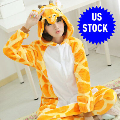 Unisex Kids Adults Giraffe Animal Kigurumi Pajamas Cosplay Sleepwear Costumes