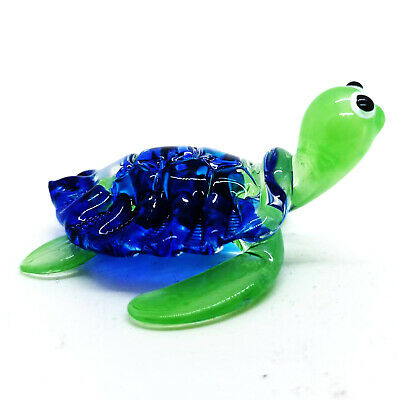 Turtle Blown Glass Hand Blowing gift Art Figurine Reptile   Decor Collectibles