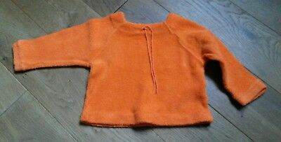 Langarmshirt Pullover orange Gr. 74 retro 70er TOP