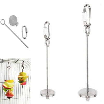 Skewer Food Stick Spear Fruit Holder For Bird Parrot Parakeet Stainless Steel