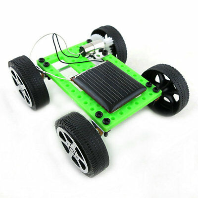 1PC DIY Self Assembly Puzzle Game Mini Solar Power Robot Toy Car For Child Kids