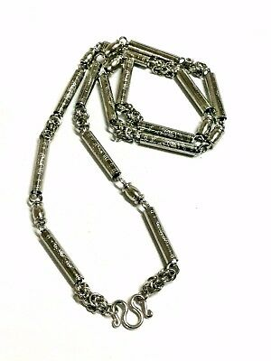 Stainless Steel Necklace Men Tube Solid Thai Amulet Buddha 1 hook 28 inches