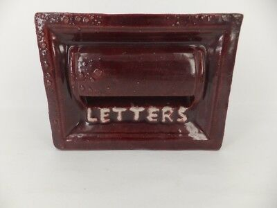 Letter brick in rich burgundy glaze -A/F -  possibly Campbell
