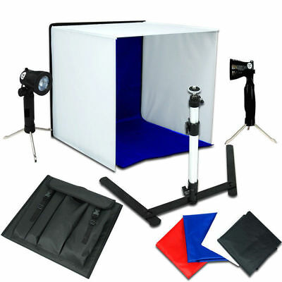 "Photo Studio 16"" Photography Light Tent 40cm Cube Lighting In A Box Kit Stand"