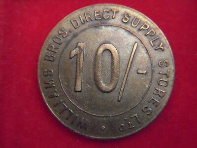 A Ten Shilling Token From Williams Brothers Supply Company [G45]