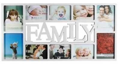 White Plastic Family Picture 10 Photos Frame Hanging Picture Frame Memories