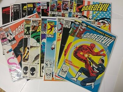 Avengers Daredevil The Man Without Fear lot of 25  183-325 NM Bagged and Boarded