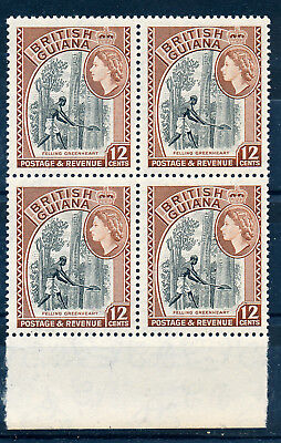 BRITISH GUIANA 1954 DEFINITIVES SG338b (12c) BLOCK OF 4 MNH