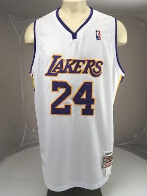 f0310e4ac 100% Authentic Kobe Bryant Mitchell   Ness Lakers Jersey Size 56 White  24
