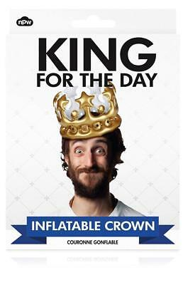 NPW-USA King for The Day Inflatable Crown, Gold